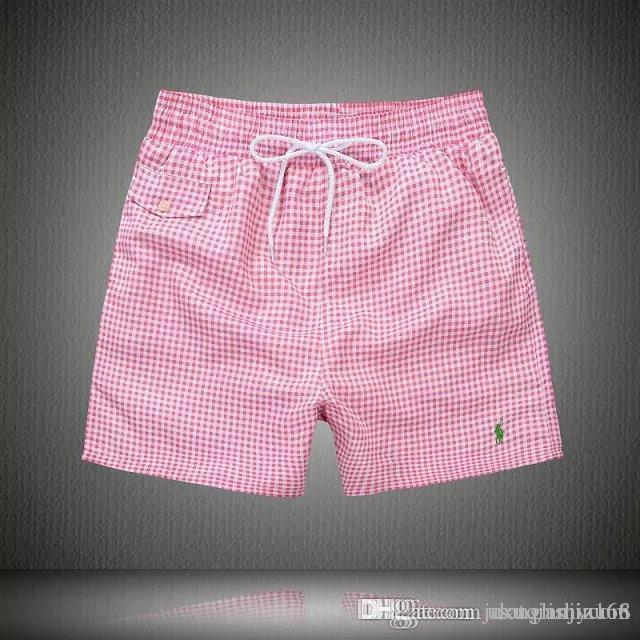 2019 New Quick Dry polo Summer Mens lattice Beach Boards Shorts Surf Siwmwear Bermudas Swim For Men Athletic Mens Gym Shorts