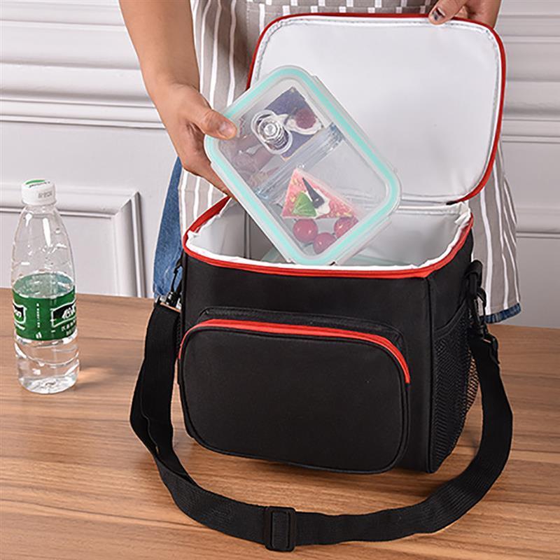 b087d8b3f Compre Sólida Lancheira Almofada Térmica Para Homens Mulheres Lunch Bag  Portátil Cooler Dupla Almoço Isolamento Bolsa Tote De Jadavu, $35.17 |  Pt.Dhgate.Com