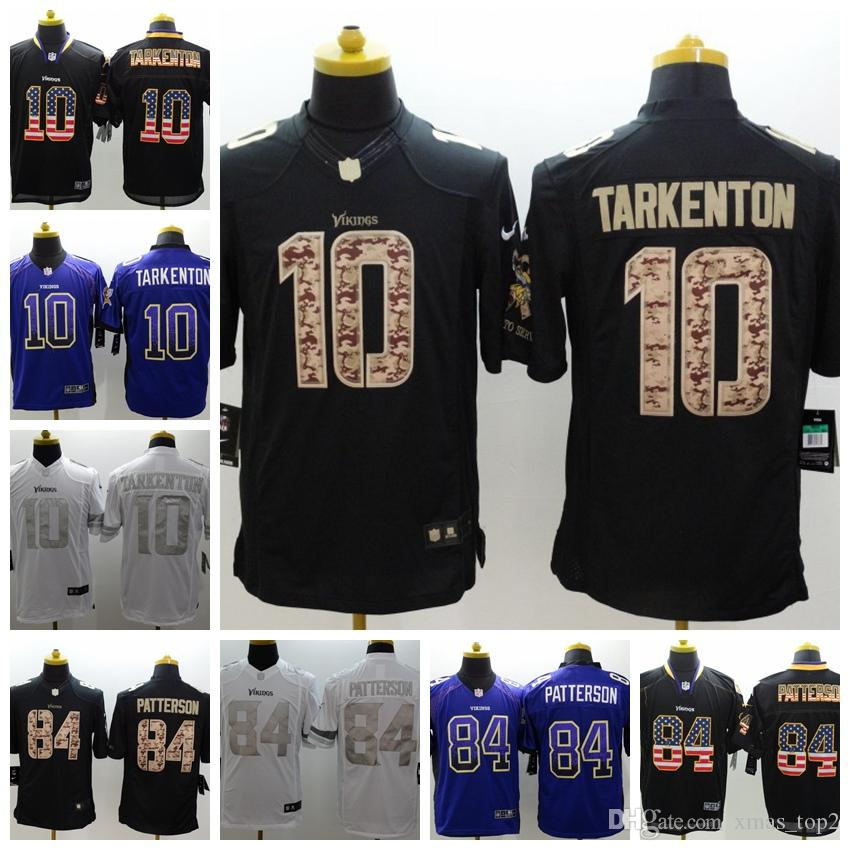 reputable site 2baa0 47e25 New Mens 10 Fran Tarkenton Jersey Minnesota Vikings Football Jersey  Stitched Embroidery 84 Cordarrelle Patterson Color Rush Football Shirts