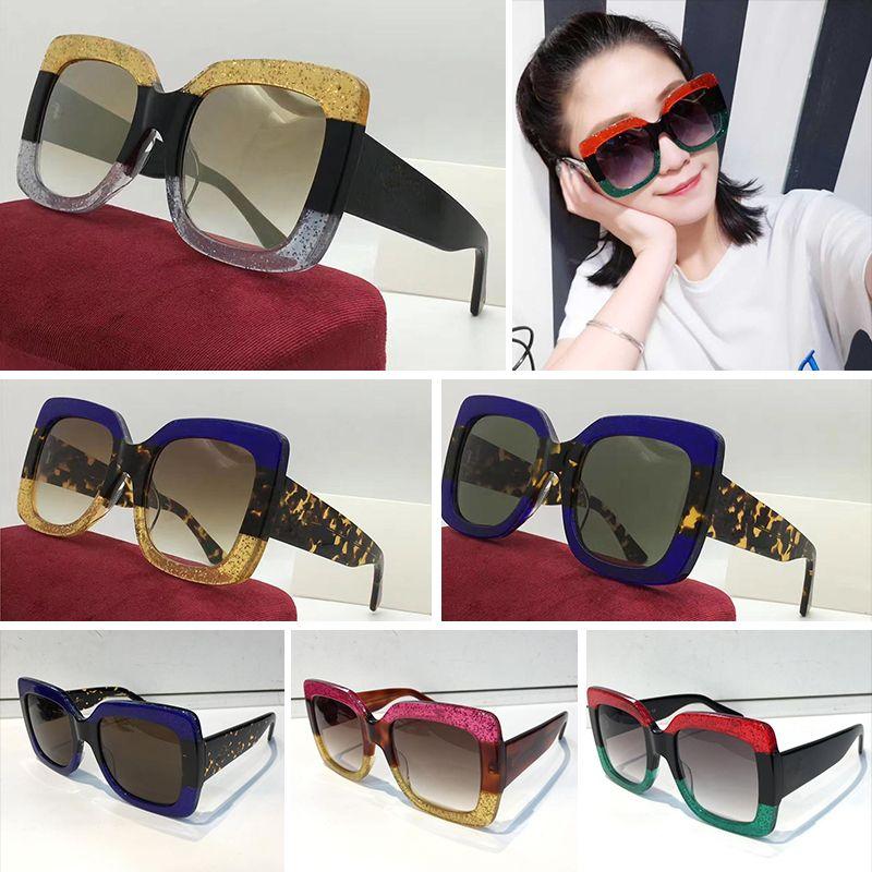 47d8d56bf Compre GUCCI Mulheres Quadrados 0083S Óculos De Sol Azuis Quadrado ...