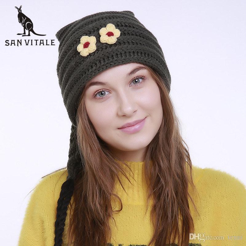 95968fbaae3 Women S Skullies Beanies Hats Winter Warm Hats 2018 Fashion Caps ...
