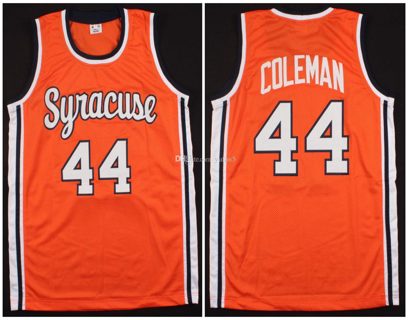 new product c4f98 ee7cf #44 Derrick Coleman Syracuse Orange College Retro Classic Basketball Jersey  Mens Stitched Custom Number and name Jerseys