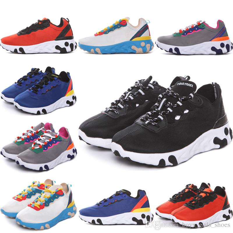 Nike Epic React Element 87 Undercover 2019 Undercover React Element Net Yarn Zapatillas de running para niños Undercover x React Element 55 React Zapatillas deportivas para niños