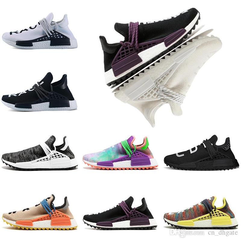 da12541bfd4 2019 NMD Human Race TR Running Shoes Pharrell Williams Nmds Human Races  Pharell Williams Mens Womens Trainers Sports Sneakers Size 36 45 Girls  Running Shoes ...