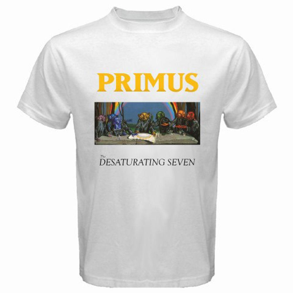 New PRIMUS Album Logo Rock Band Tour 2017 Men's White T-Shirt Size S-3XL
