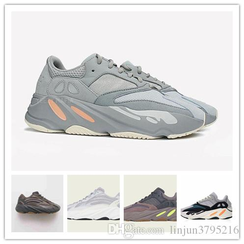 9ec5238ed331d New Kanye West 700 Wave Runner Running Shoes For Mens Womens 700s V2 Static  Sports Sneakers Mauve Solid Grey Shoes Size 36 45 Mens Shoes Loafers From  ...