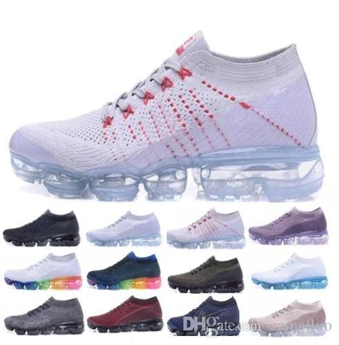 9557f192743 Vapormax VM Men Designer Shoes Casual Sneakers Women Sport Black White  Outdoor Shock Air Cushion Run Athletic Shoes 36-45 Online with  74.54 Piece  on ...
