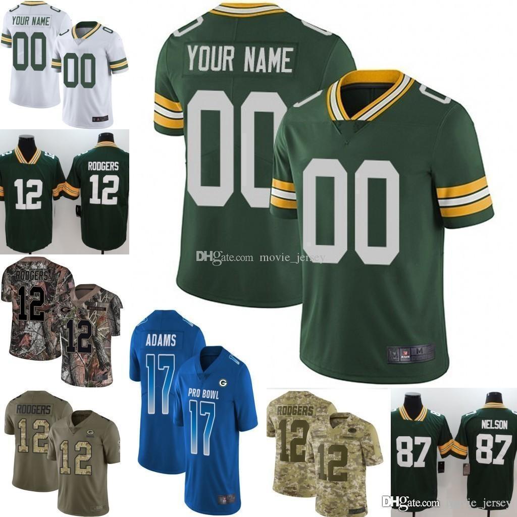lowest price 8beac 02325 2019 Pro Bowl Men Youth women Green Bay Jaire Alexander Aaron Rodgers Brett  Favres Davante Adams Clay Matthews Custom Packers Camo jersey