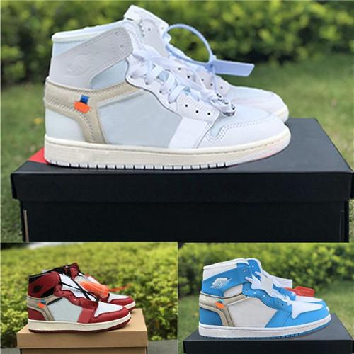 Hot sale designer shoes 1S Mens Casual shoes 1s for Men Brand Sports Shoes Trainer White University Blue Chicago Womens Sneakers
