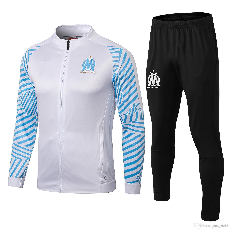 Compre 2018 2019 Marseille Chaqueta De Fútbol Chándal Marseilles De Foot  CABELLA PAYET THAUVIN ANGUISSA 1819 Chaqueta Larga Con Cremallera Traje De  ... 2ad7685512232
