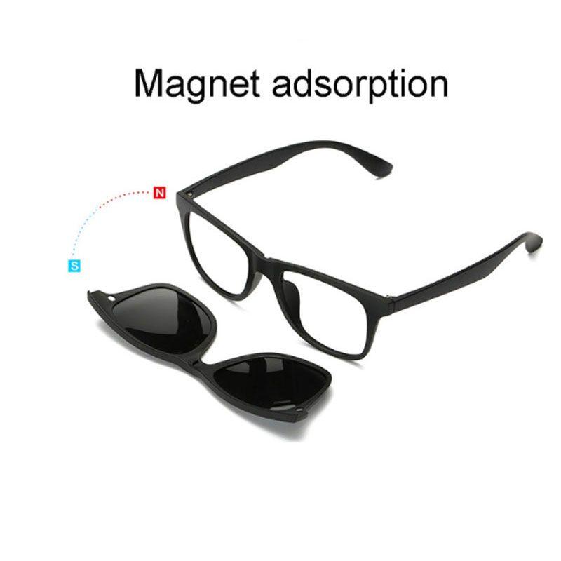 751f0d579b Compre Gafas Graduadas Clip Espejado Clip En Gafas De Sol Gafas De Conducir  Gafas De Sol Polarizadas Para Hombres Lente Con Gafas Transparentes Marco A  ...