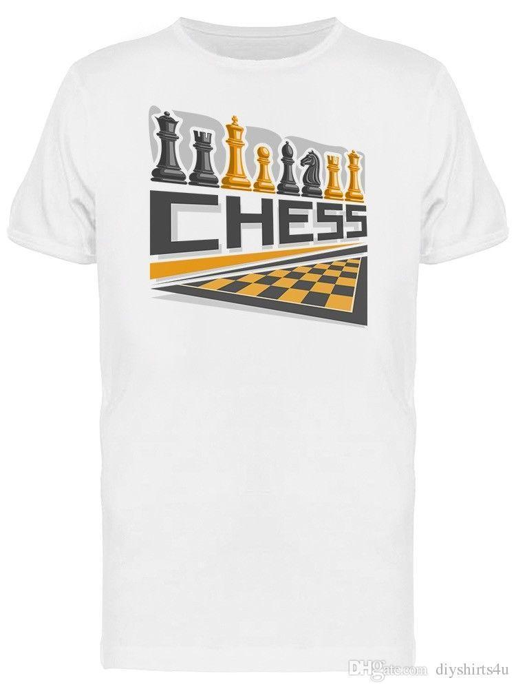 e729eeae8 Logo Chess Board Graphic Men's Tee T Shirt Men Premium Custom Short Sleeve  Boyfriend's Plus Size T-Shirts