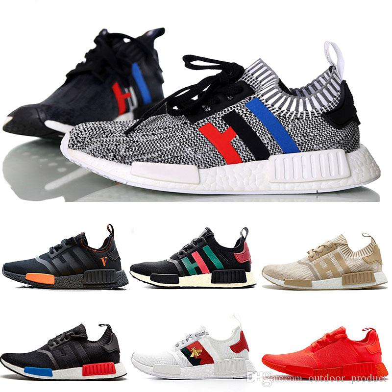 26d4f1e0f4043 2019 2019 Wholesale Discount Cheap Pink Red Gray NMD Runner R1 ...