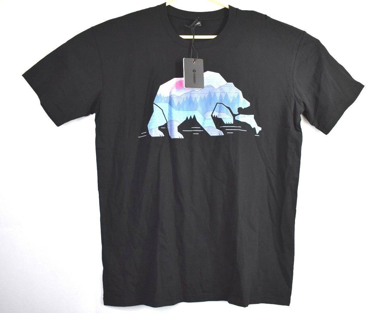 d88d02ec Redbubble Men's XL Black Bear Country By The Paper Crane Short Sleeve T  Shirt Men Women Unisex Fashion tshirt Free Shipping