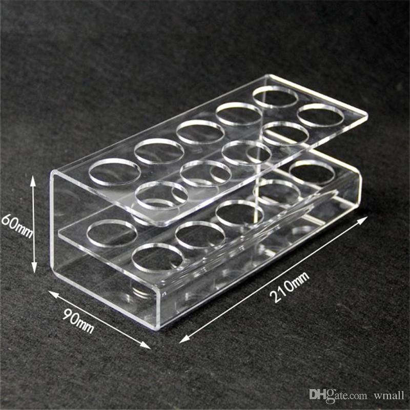 Acrylic Display Stands Clear e cig Shelf Holder Vape Rack Show Case for 60ml e liquid eJuice Plastic Bottles E-cigarette Accessories