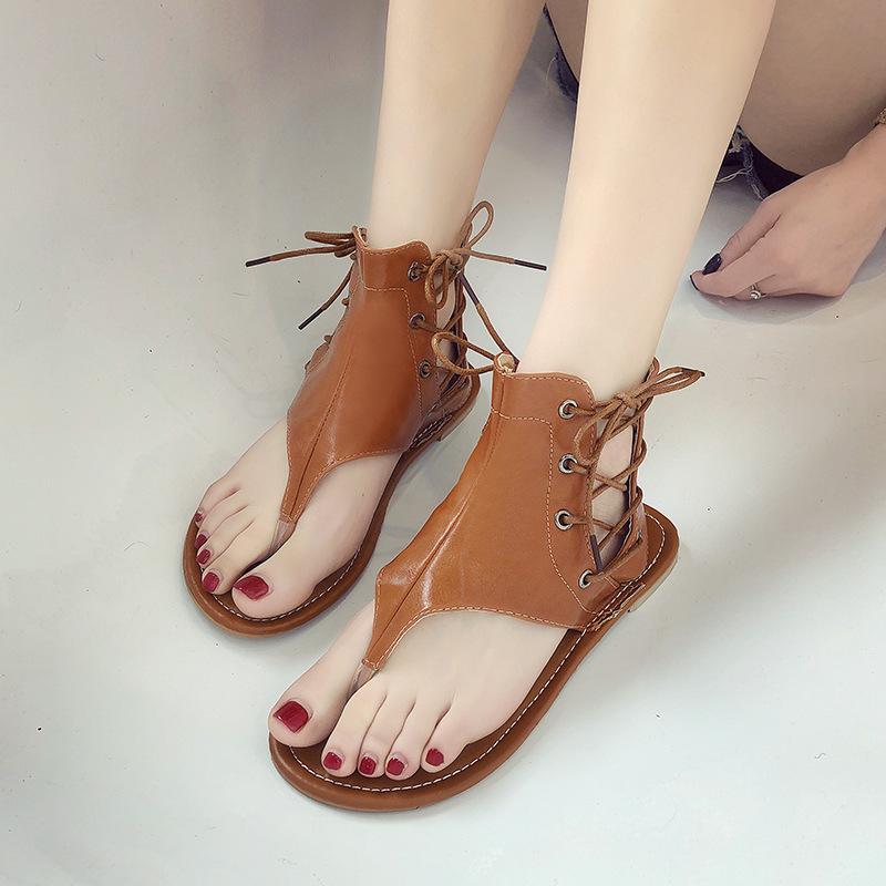 6d92636aa797d Summer Women flats Sandals Woman Fashion Flip Flops Ladies Shoes Women Open  Toe Beach Shoes Female Casual Sandals Plus Size35~43