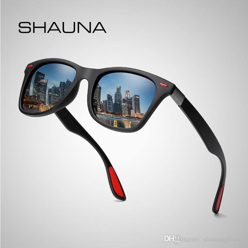 15575800975d SHAUNA TR Frame Classic Polarized Sunglasses Men Driving Square Sun Glasses  Women UV400 Gafas De Sol Polarized Sunglasses Square Sunglasses Online with  ...