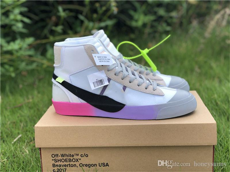 1efeb6d4451 Off Top Quality White Blazer Mid Queen AA3832-002 Serena Williams Grim  Reaper Spooky Pack All hallows Eve Canvas The Ten With Original Box