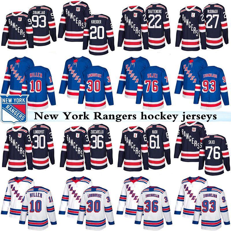 d092dc4f5f8 2019 2019 New York Rangers Jerseys Hockey 30 Henrik Lundqvist 36 ...