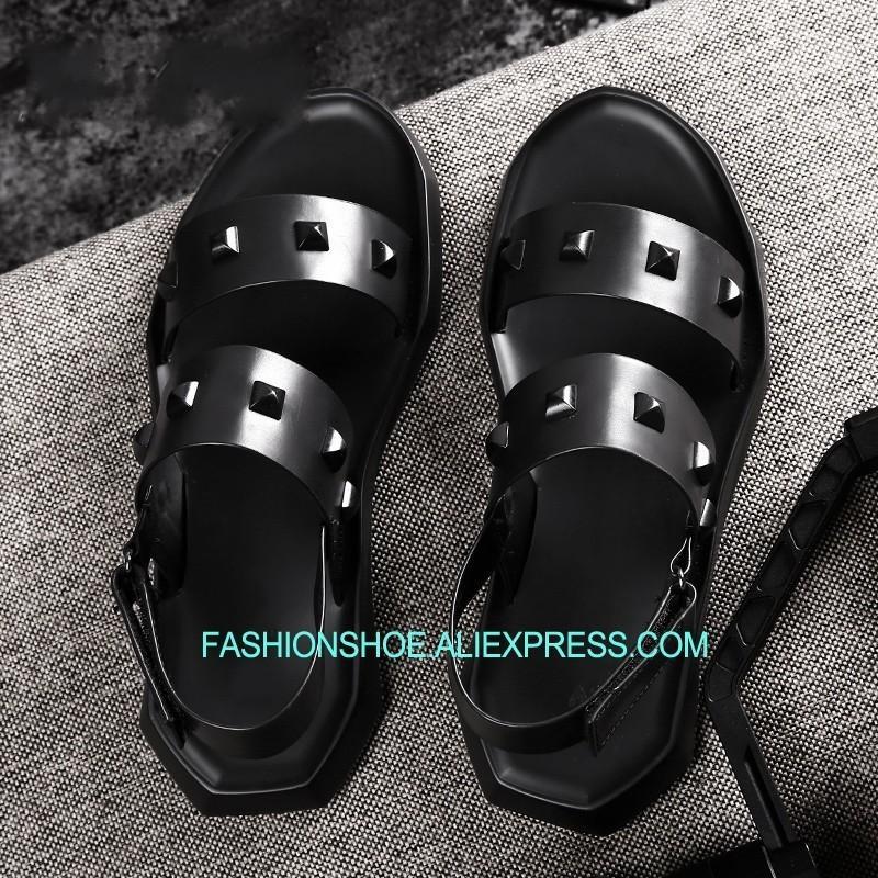 Zapatos Gladiadores Mujer Sandalias Suave De Negras Caliente Verano Playa Tacón Ocio Cuero Para Hombres Plano 2DWHIE9