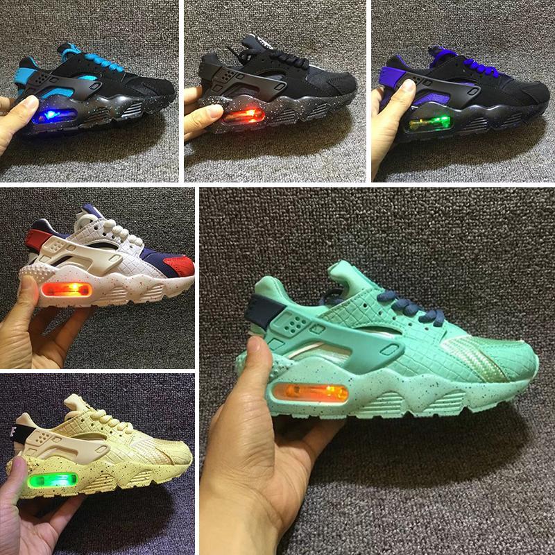 c48666af3307d Flash Light Air Huarache Kids Running Shoes Sneakers Infant Children  Huaraches Huraches Designer Hurache Casual Baby Boys Girls Sneakers UK 2019  From ...
