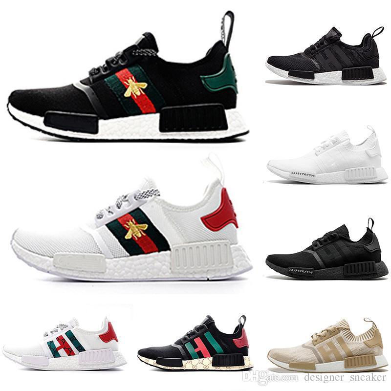 bb5bdea93 2019 New NMD R1 X BEES PK Primeknit Men Women Running Shoes OG ...