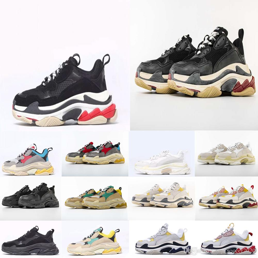 Hot Sale 2018 Top Quality New Triple-S Sneakers Men/Women Running Shoes Sports Shoes Size 36-45