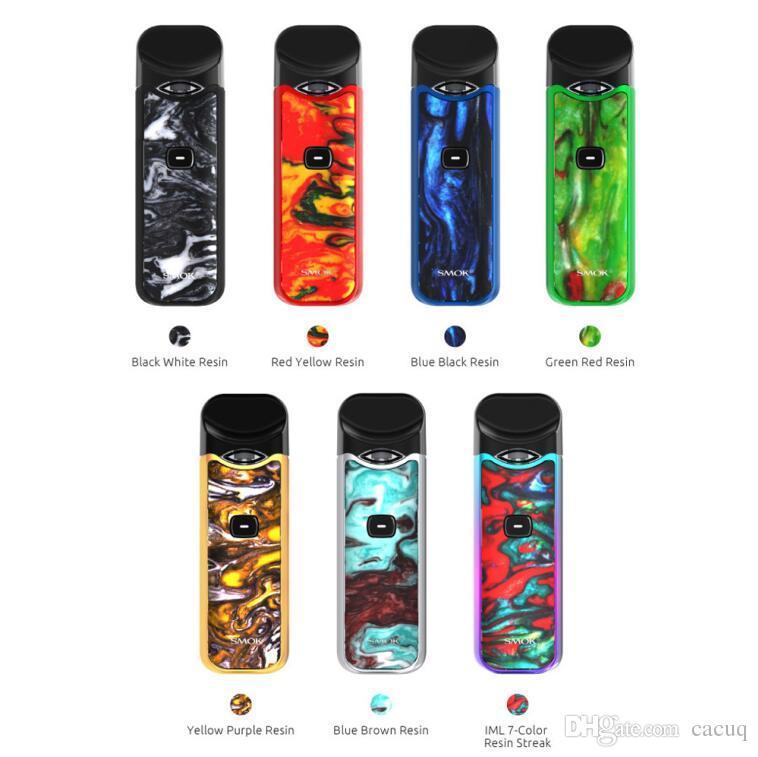 Authentic Smok Nord Resin Version Kit 1100mAh Vape Battery and 3ml Pods  Vape Cartridge 100% e cigarette Pod System Pen Kits