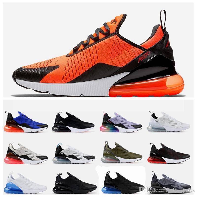 sports shoes ff94c d2593 Compre 270 Zapatillas De Deporte Para Hombre Clásico Al Aire Libre 270 S Triple  Negro Blanco Universidad Rosa Roja Total Naranja Entrenadores Mujeres ...