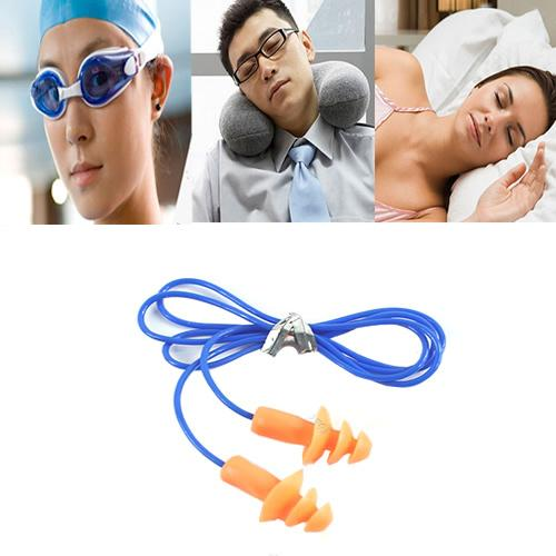 10pcs/lot Soft Silicone Ear Plug Hearing Protector Hearing For Swimming Sleeping 24dB