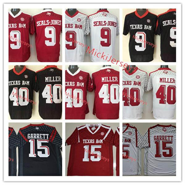 new arrivals eecff 7e765 Mens NCAA Texas A&M Aggies Von Miller football Jersey Stitched #9 Ricky  Seals-Jones 15 Myles Garrett Texas A&M Aggies Jersey S-3XL