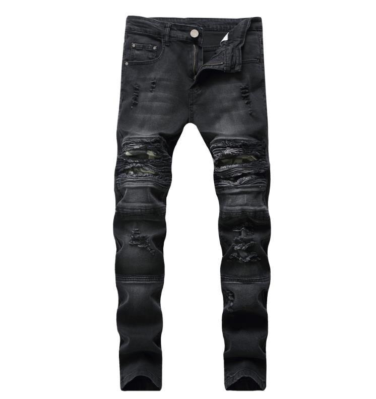 7790fd820a Compre 2019 New Fashion Jeans Hip Hop Rock Moto Ropa De Diseñador Para  Hombre Nueva Moda Desgastada Desgarrada Flaco Denim Biker Jeans Hombres  Pantalones A ...