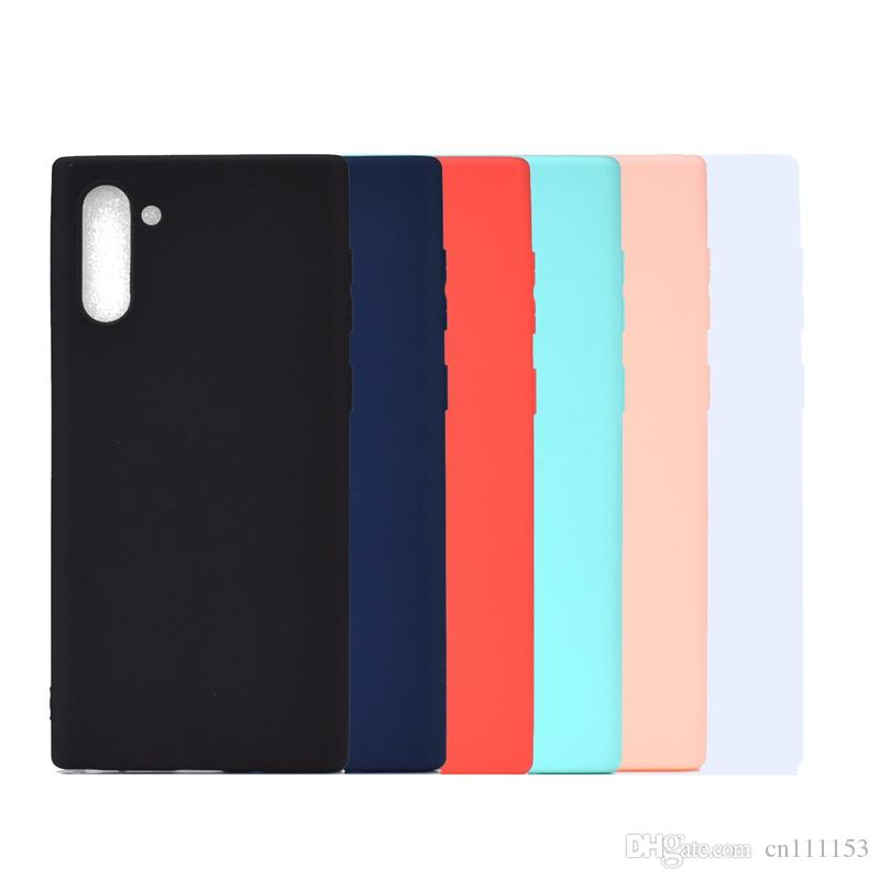 Hülle Für Samsung Galaxy Note 8 Note 9 Note 10/10 Plus Back Cover Candy Einfarbig Simple Soft TPU