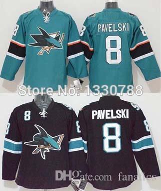 online retailer d2d0f 918c2 2016 Stitched Hockey Jersey San Jose Sharks Pavelski Teal Home Black  Alternate Cheap Mens #8 Joe Pavelski Jersey Sharks San Jose