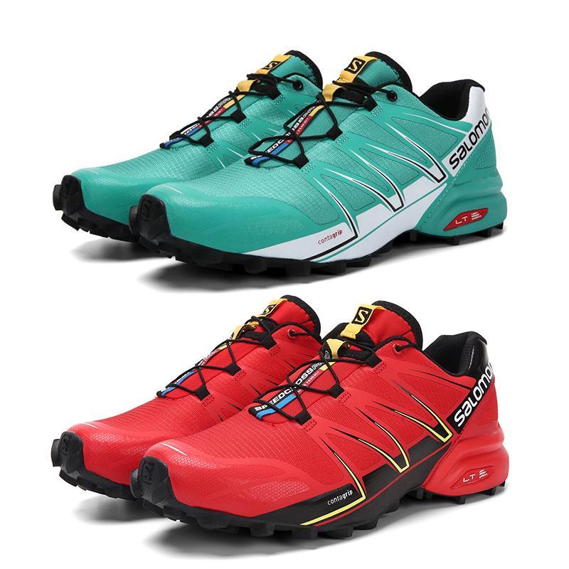 Venta caliente Speed Cross Pro 5 Hombres zapatos de campo traviesa Verde Rojo antideslizante zapatos a prueba de humedad al aire libre entrenadores