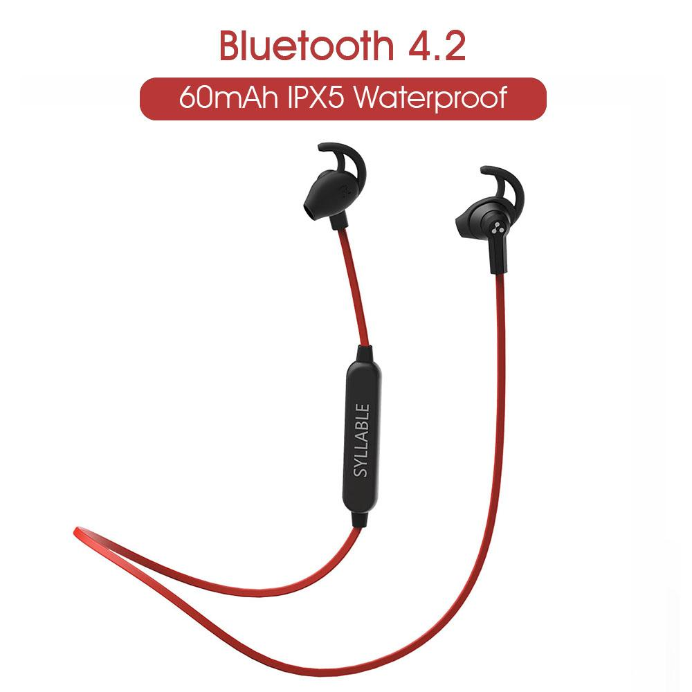 25194dbc646 019 SYLLABLE SF801 4.2 Headset Wireless Sports Earbuds With Mic Stereo  Headset For Mobile Phone Bluetooth Earphones 2019 SYLLABLE SF801 .