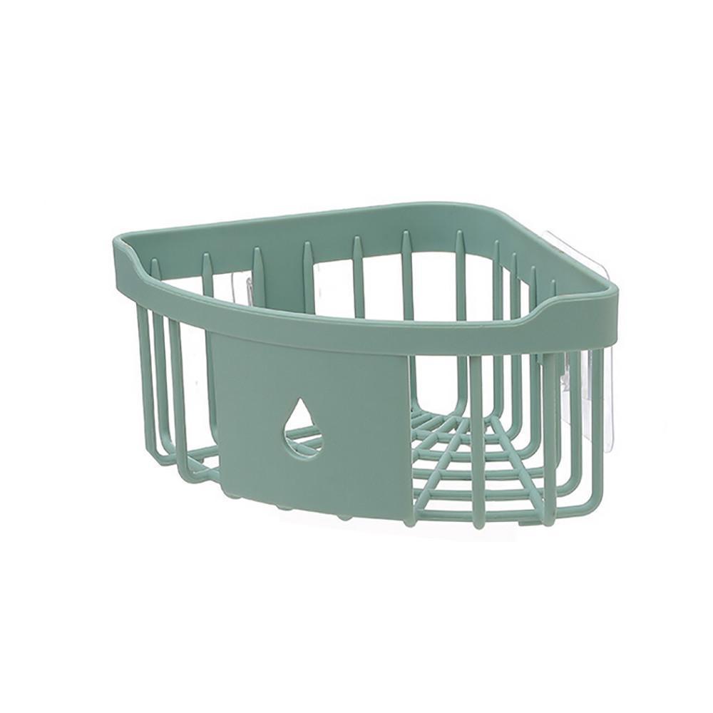 Kitchen Bathroom Shelf Suction Cup Rack Organizer Storage Shower Wall Basket
