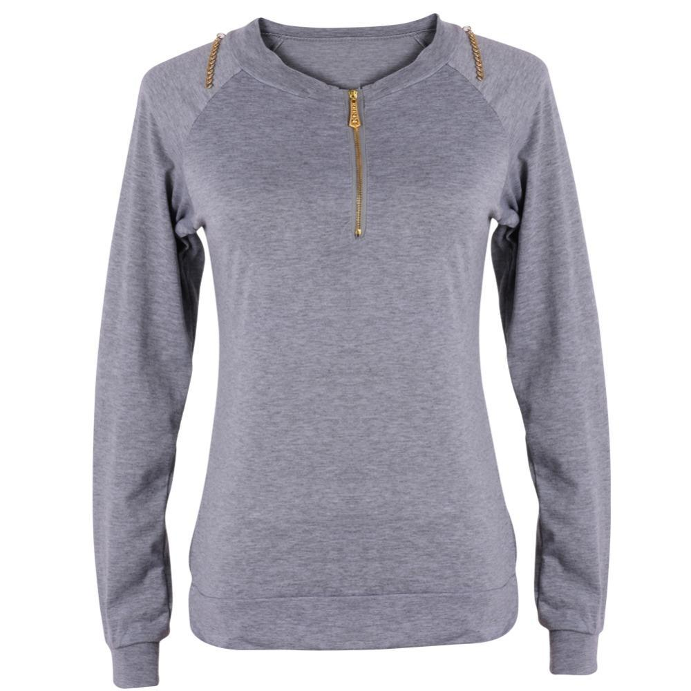 Long Hoodie Neck Pullover Women Casual Winter V Jumper Ladies Sleeve WO1t1H