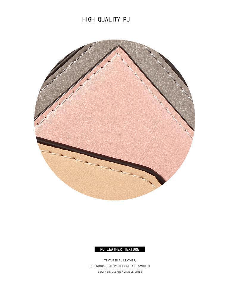 Unishow Mini Kadın Cüzdan Panelli Hasp Pu Deri Cüzdan Kadın Marka Tasarımcı Kısa Kadın Çanta Küçük Kız Cüzdan Kart Sahibinin