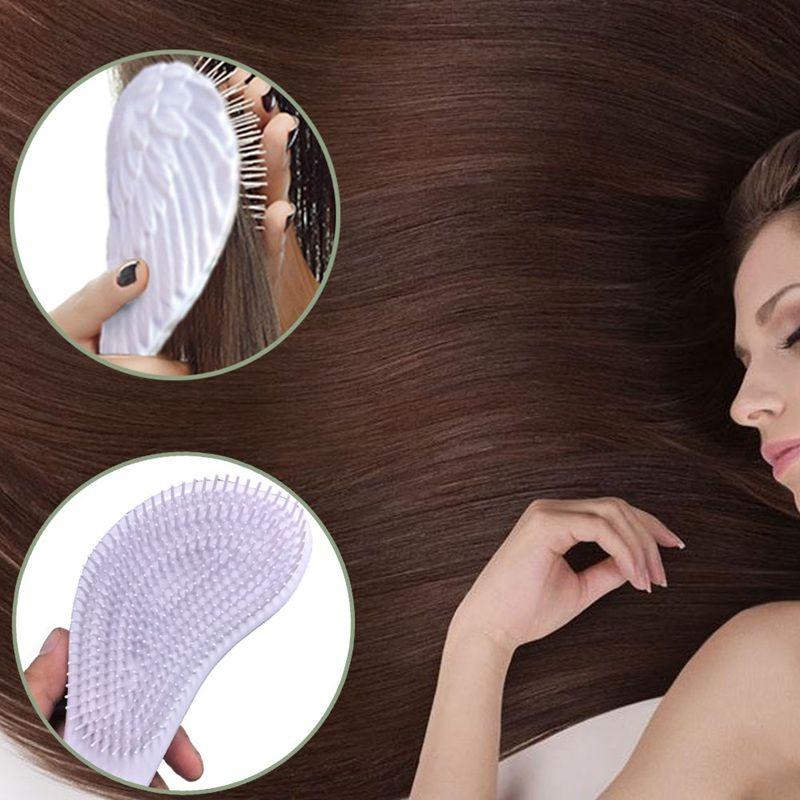 Masaje práctico caliente Tangle Peine Cepillo de pelo Cepillo de pelo profesional antiestático Alas de ángel blanco peine Envío gratis