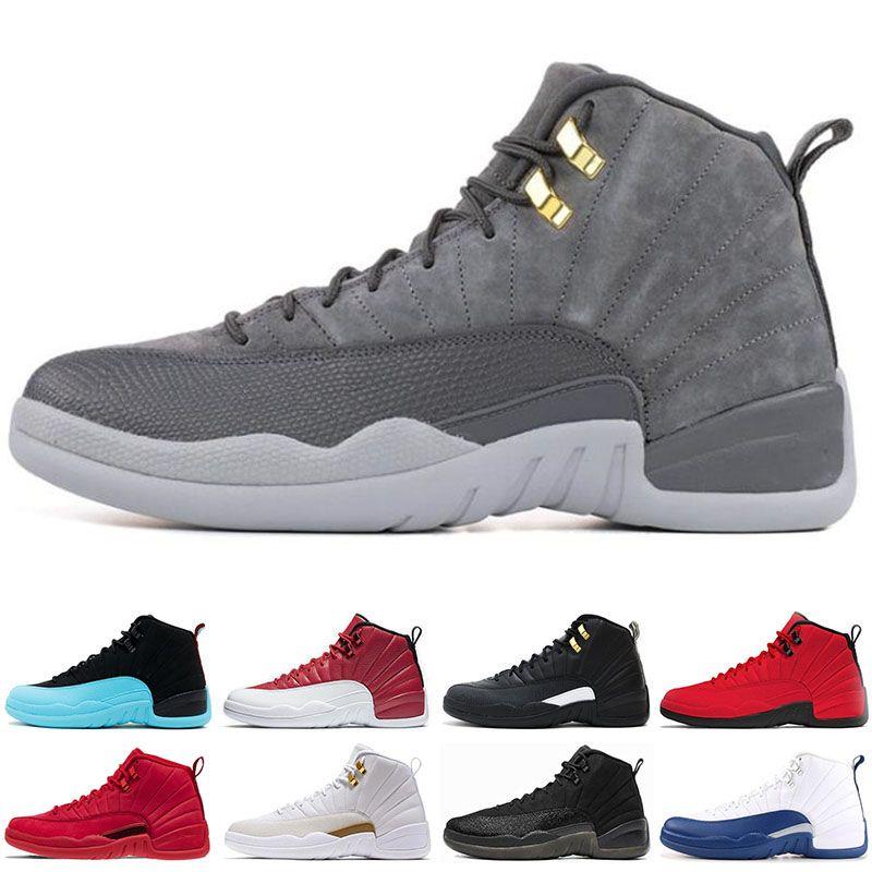 best sneakers d31b1 b770e Großhandel Nike Air Jordan 12 12s Günstige 2019 12 12s Männer Basketballschuhe  Sneakers Schwarz Weiß PLAYOFF THE MASTER Gym Rot Gamma Blau 12s Herren ...