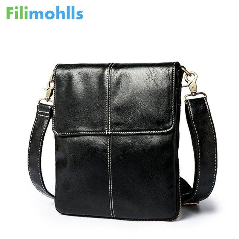 6b7cd9939ef8 Fashion Leather Crossbody Bag Shoulder Men Messenger Bags Small Casual Designer  Handbags Man Bags Leather Men Bag S1758 Clutch Purse Cross Body Purses From  ...