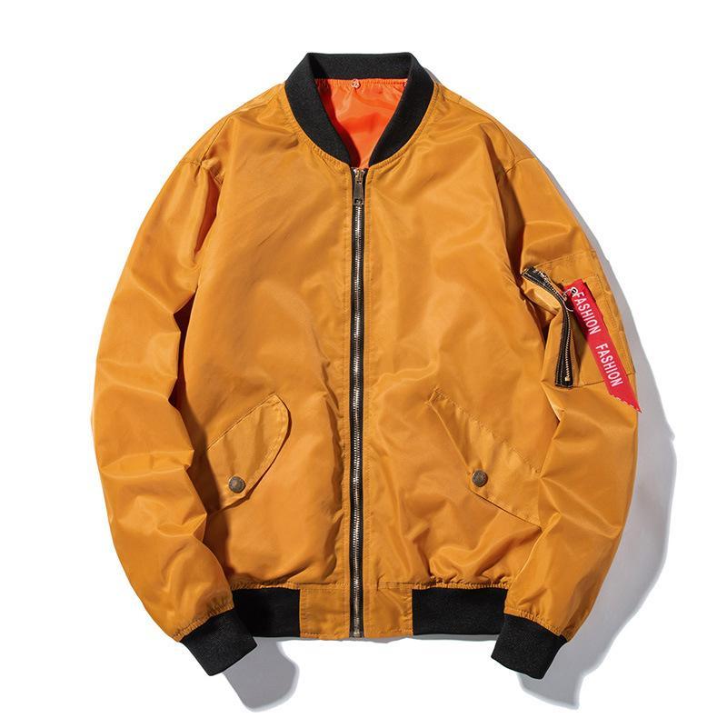 a21666797 8 Colors Men's Flight Bomber Jacket Female MA1 Hooded Jackets Unisex Coat  Male Lovers Tops Pilot Baseball Windbreaker