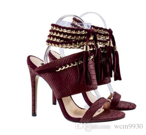 41dbe325145 python leather ladies high heel fashion sexy luxury women sandal super high  genuine leather shoes