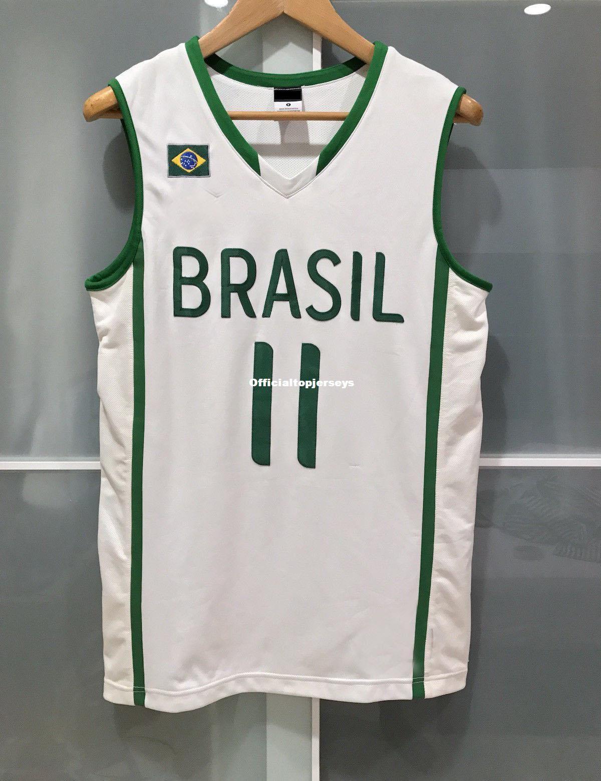e92be9e07bdd 2019 Cheap Wholesale RARE Nk BRAZIL VAREJAO BASKETBALL JERSEY FIBA WBC  White T Shirt Vest Stitched Basketball Jerseys Ncaa From  Officialtopjerseys