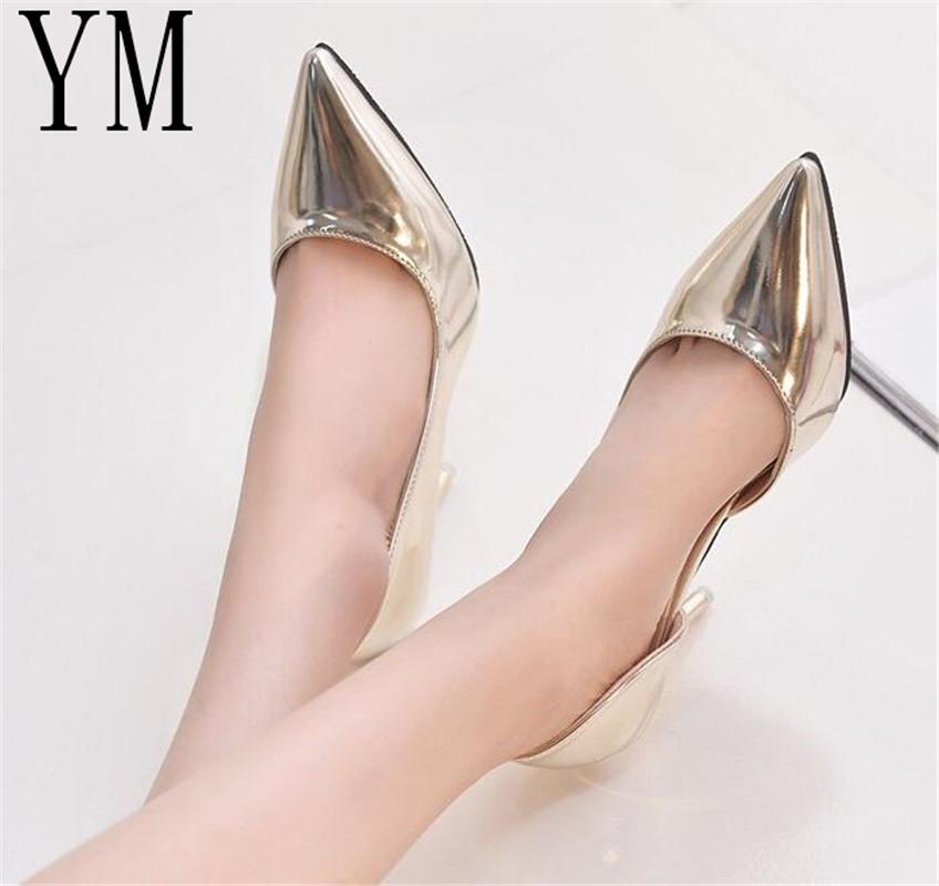 2019 Fashion Hot Spring Autumn Women Pumps Sexy 9cm Gold Silver Black High  Heels Shoes Pointed Toe Wedding Shoes Party Women Shoes Mens Loafers Formal  Shoes ... 7589eb3ead4e