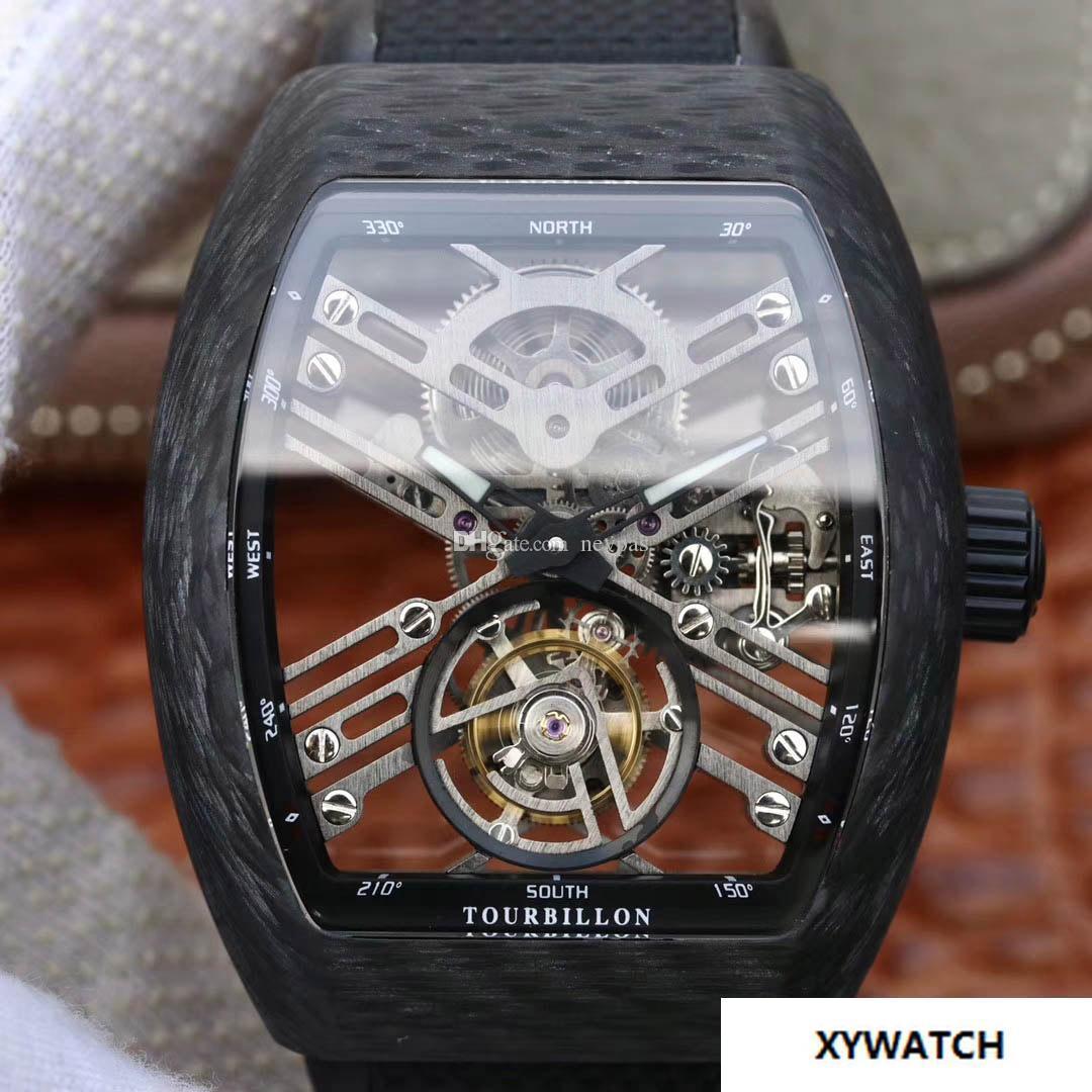 a5d709b5be5f Compre Tourbillon De Lujo Reloj Mecánico Para Hombres De Calidad ...