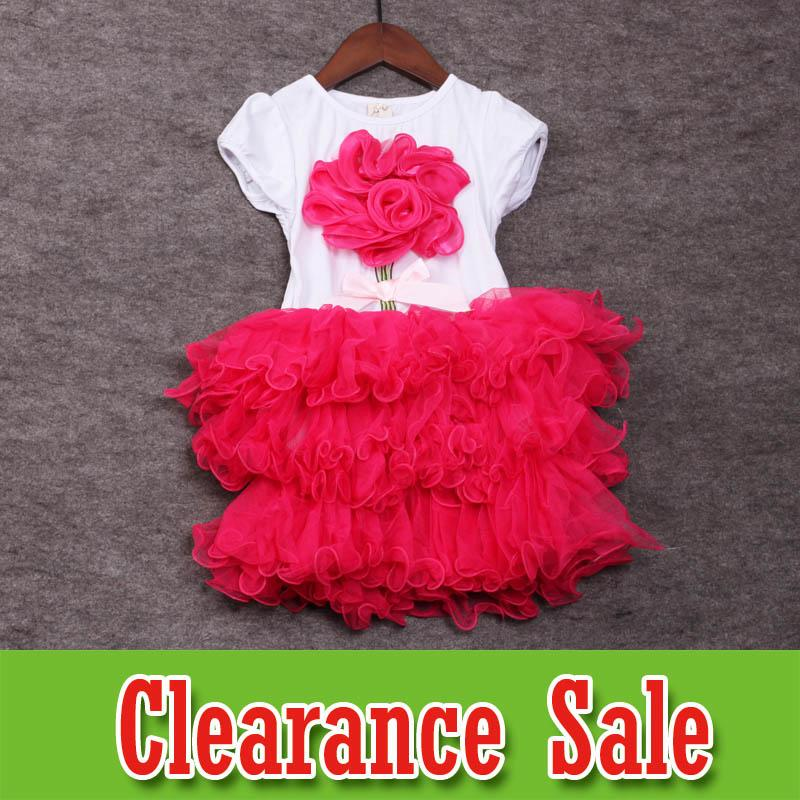 b4dfd9675bc Summer Girls Dresses 3D Flower baby Princess Dresses kids designer clothes  girls Dress tutu skirts kids clothing cotton kids clothes D5