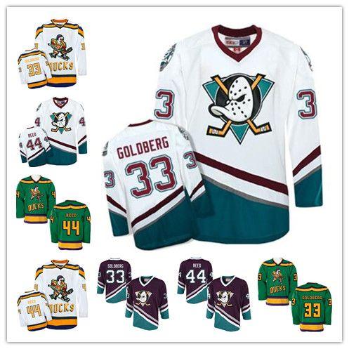 107b9eeef Mens CCM Mighty Ducks 33 Greg Goldberg 44 Fulton Reed Stitched Retro Jersey  Movie Jersey Vintga Hockey Jerseys UK 2019 From Gamemen