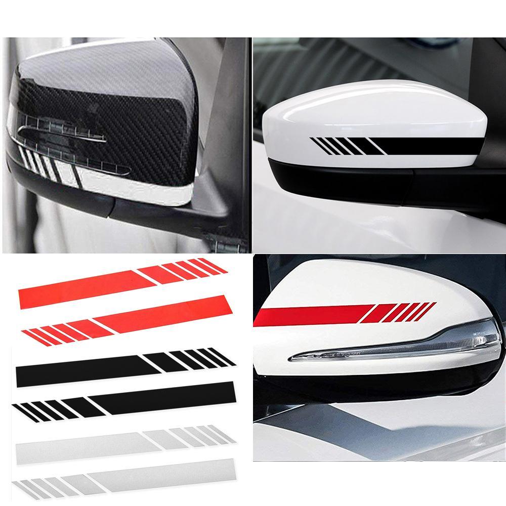 Automobils car rearview mirror sticker car decals badge sticker diy mirror decor side decal stripe accessories car dashboard decoration car dashboard